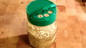 Use cheese lids on top of mason jars for re-use applications
